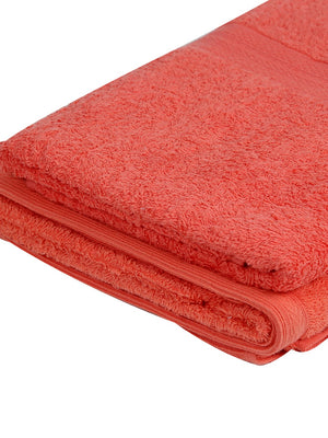 Set of 2 His & Her Pink Cotton 450 GSM Bath Towel Set
