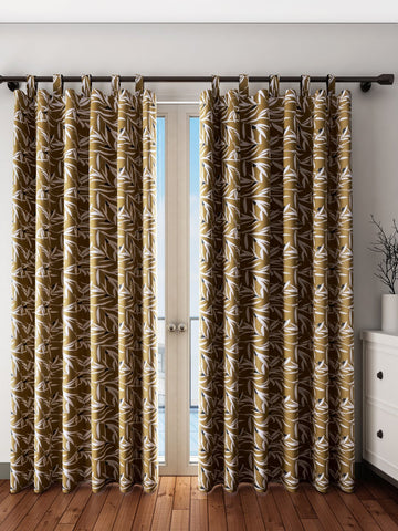 Handcrafted Umber Legacy Curtains (Set of 2)