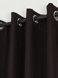 RANGRAGE 1 Piece Eyelet Polyester Door Curtain, 7ft, Dark Brown