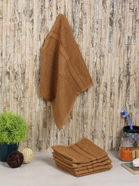 Beige 100% Cotton 500 GSM Face Towel (SET OF 6)