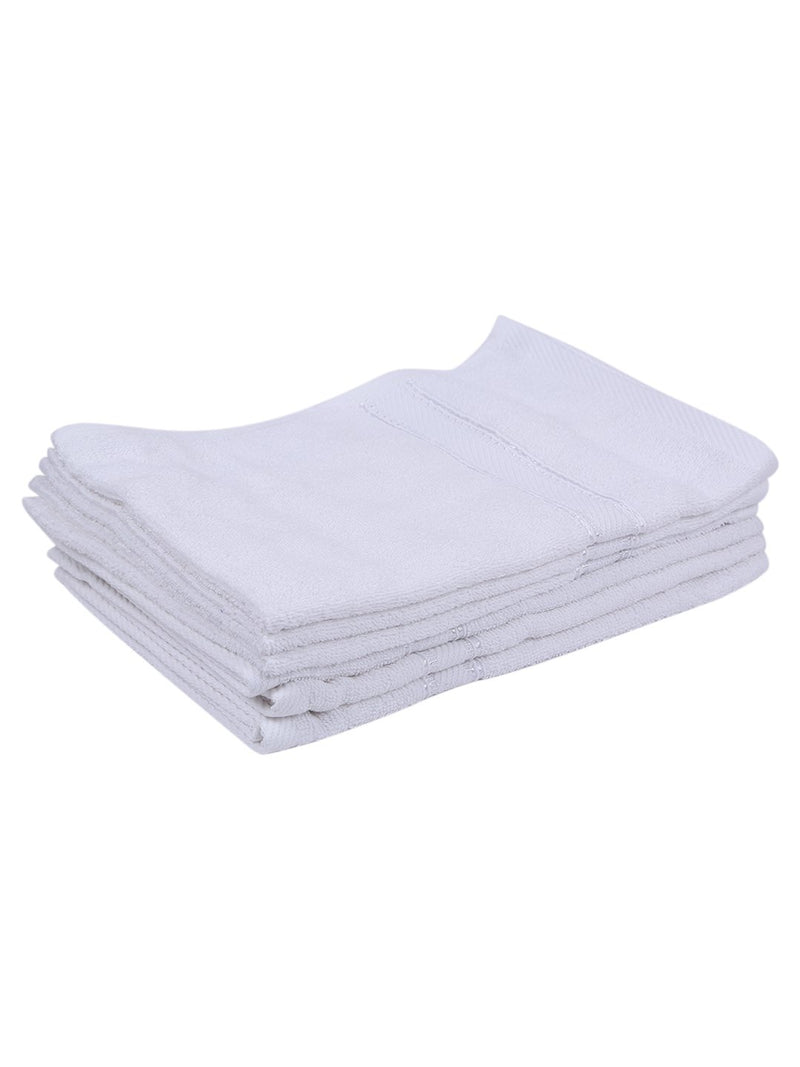 White 100% Cotton 500 GSM Face Towel (SET OF 6)