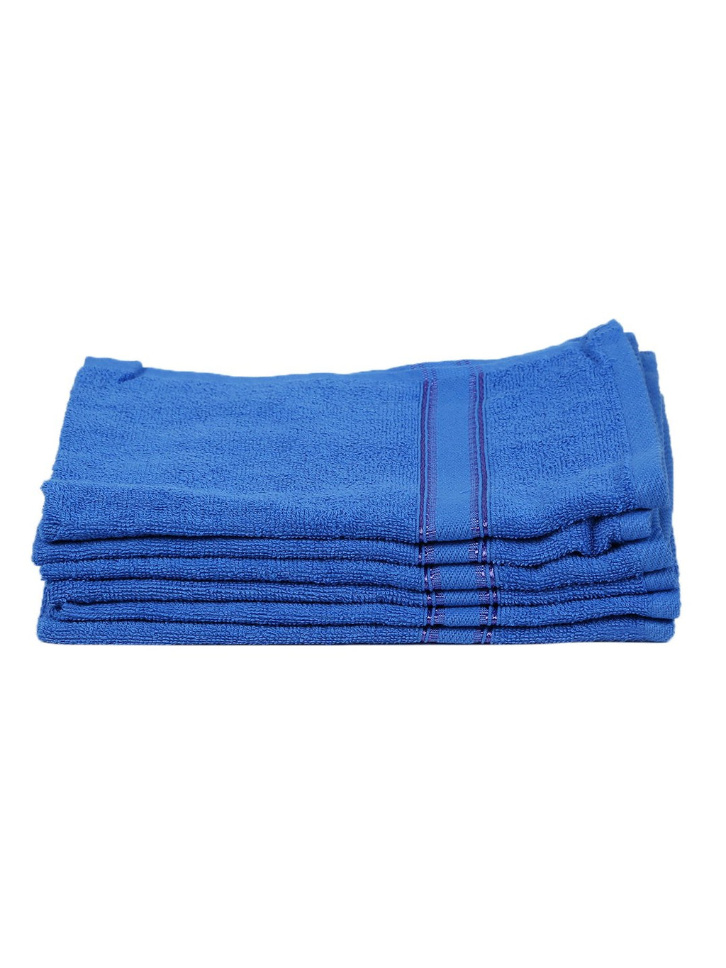 Blue 100% Cotton 500 GSM Hand Towel (SET OF 6)