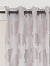 RANGRAGE 1 Piece Eyelet Polyester Window Curtain, 5ft, Soothing Brown