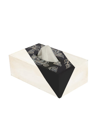 Hand-painted Classy Florets Tissue Box Holder