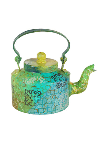 Hand-painted Spring Bloom Kettle Set