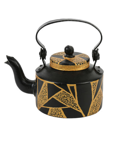 Hand-painted Royal Black Kettle Set