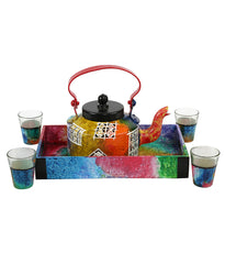 Hand-painted Royal Jharokha Kettle Set - RANGRAGE