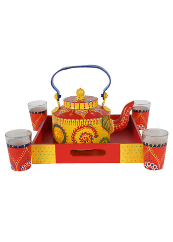 Hand-painted Colorful Tradition Kettle Set