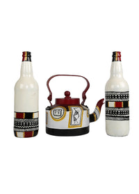 Hand-painted Classic Warli Home Decor Combo - RANGRAGE