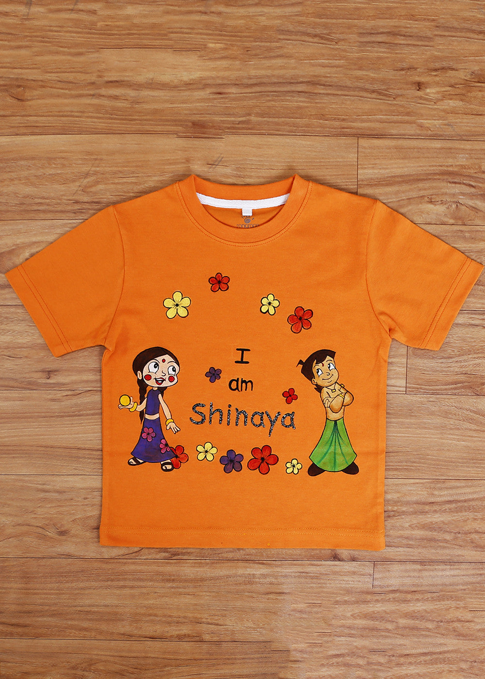 Hand-painted Customized T-Shirts For Girls - RANGRAGE