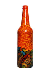 Hand-painted Mandana waves Decorative bottle - RANGRAGE