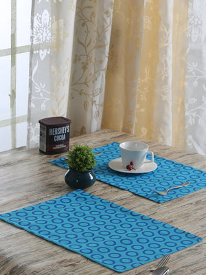 Handcrafted Azure Artistry Placemats (Set of 6)