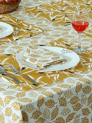 Handcrafted Amber Gift Set of Table Linen (13 Pcs)
