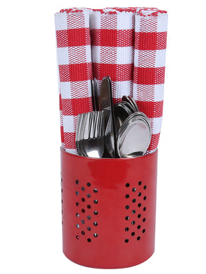 RANGRAGE 32 Pcs Stainless Steel Cutlery set with Cutlery Holder & Kitchen-Dining Tableware
