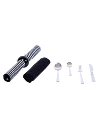 RANGRAGE 42 Pcs Stainless Steel Cutlery set with Kitchen-Dining Tableware