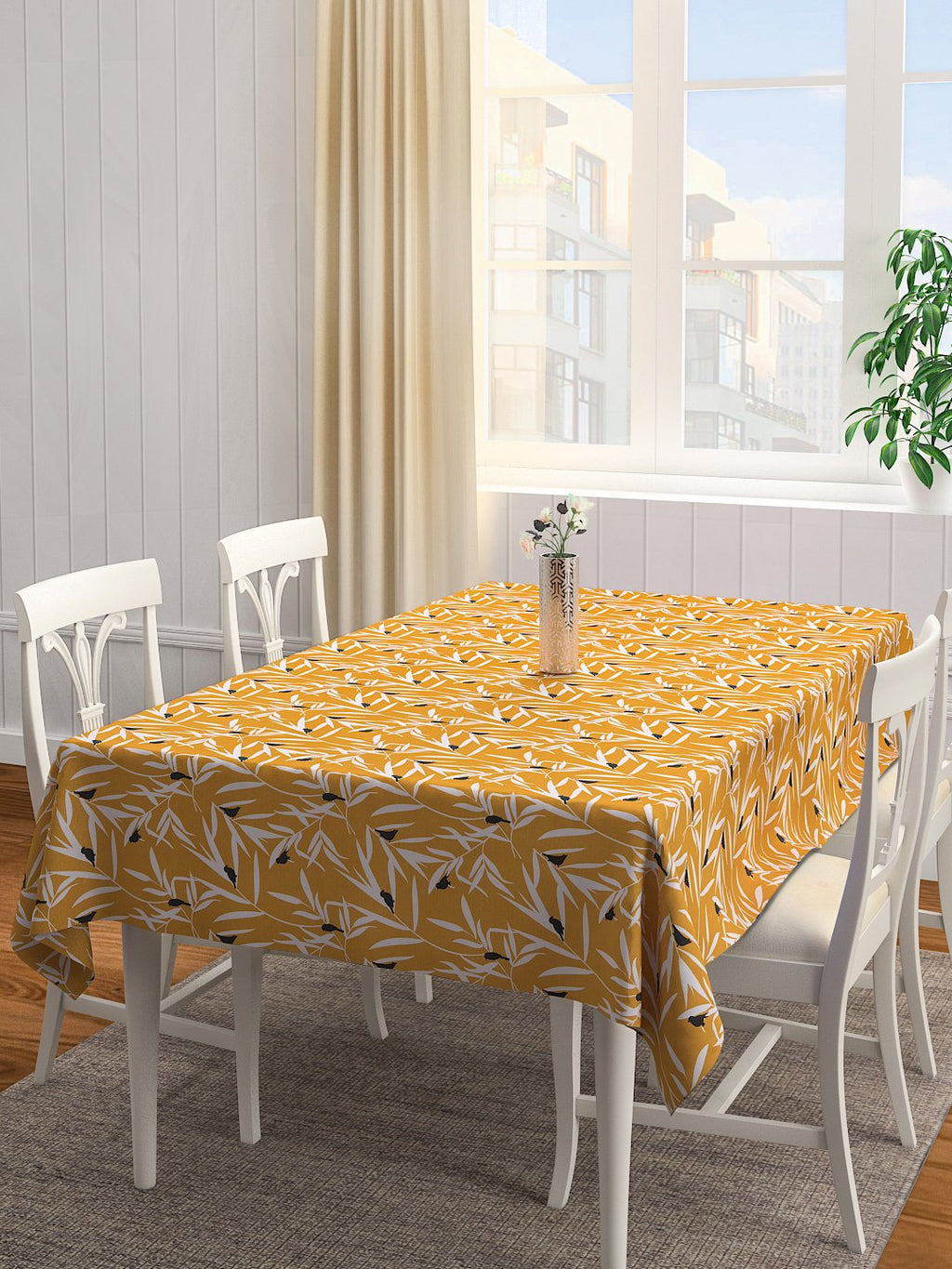 Handcrafted Ocre Bequest Table Cover