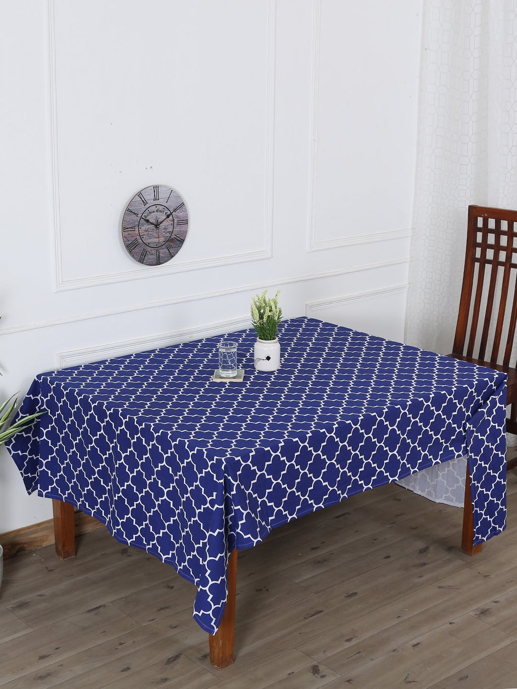 Handcrafted Persian Sapphire Table Cover