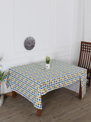 Handcrafted Checkered Delight Table Cover