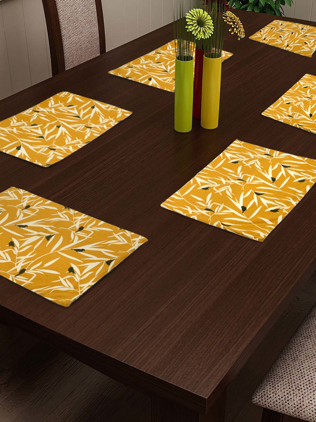 Handcrafted Ocre Bequest Placemats (Set of 6)