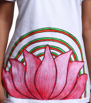 Hand-painted Lotus Aura T-shirt - RANGRAGE  - 2