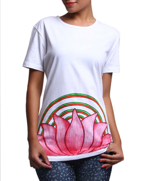 Hand-painted Lotus Aura T-shirt - RANGRAGE  - 3