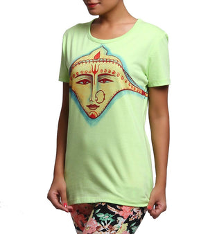 Hand-painted Divine Maa T-shirt - RANGRAGE  - 2