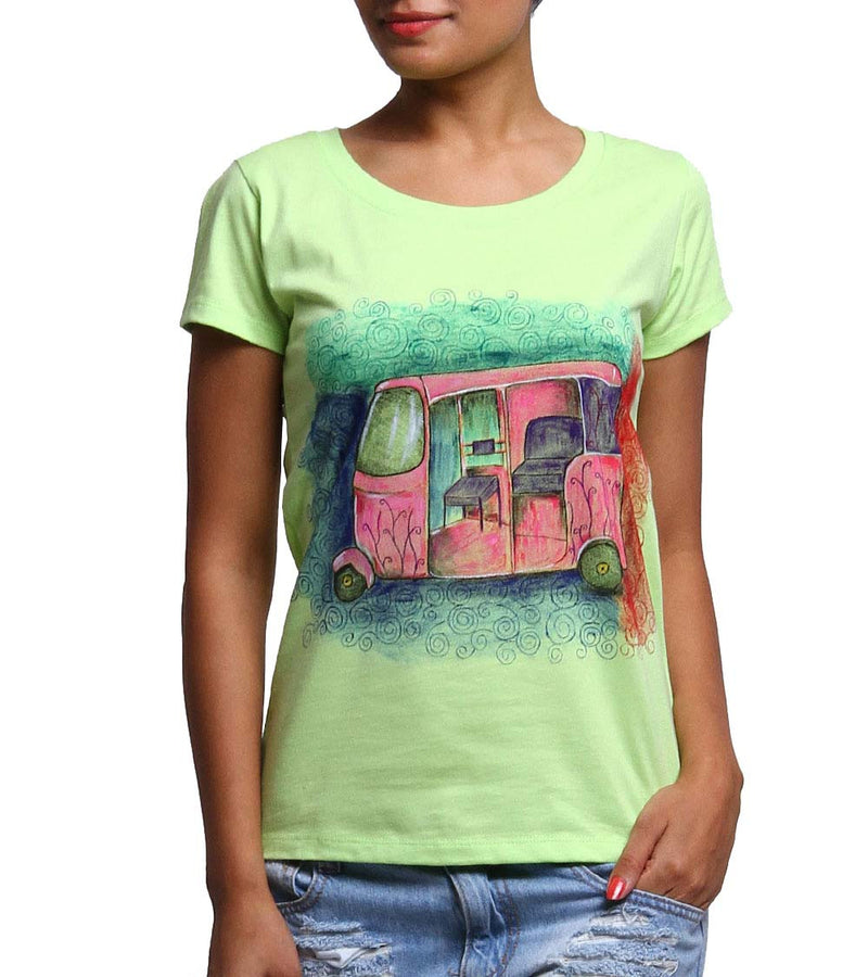 Hand-painted Colorful Auto T-shirt - RANGRAGE  - 1