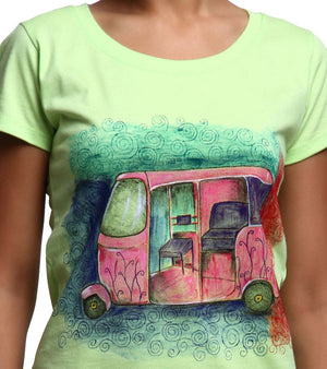 Hand-painted Colorful Auto T-shirt - RANGRAGE  - 2