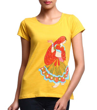 Hand-painted Dancing Lady T-shirt - RANGRAGE  - 1