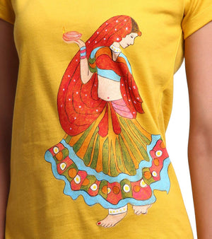 Hand-painted Dancing Lady T-shirt - RANGRAGE  - 2