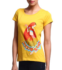 Hand-painted Dancing Lady T-shirt - RANGRAGE  - 3