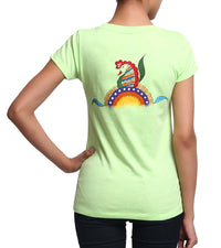 Hand-painted Heena Peacocks T-shirt - RANGRAGE  - 2