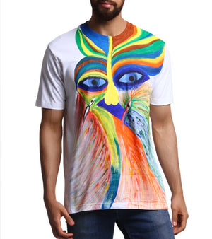 Hand-painted Abstract Conciousness T-shirt - RANGRAGE  - 1