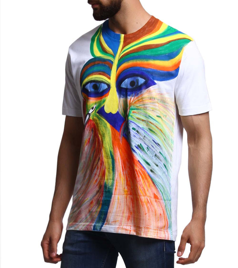 Hand-painted Abstract Conciousness T-shirt - RANGRAGE  - 3