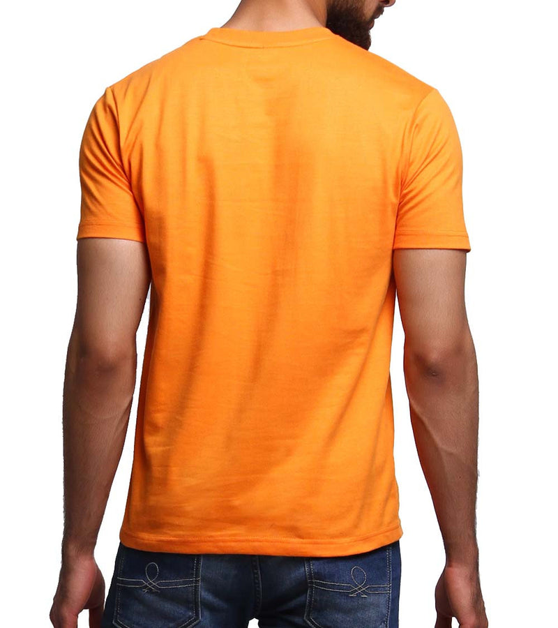 Hand-painted Meditating Buddha Orange T-shirt - RANGRAGE  - 4