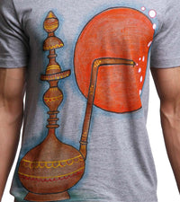 Hand-painted Hookah Grey T-shirt - RANGRAGE  - 2