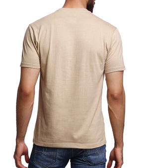 Hand-painted Tractor Beige T-shirt - RANGRAGE  - 4