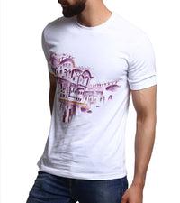 Hand-painted Haveli T-shirt - RANGRAGE  - 1