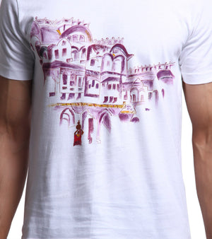 Hand-painted Haveli T-shirt - RANGRAGE  - 2