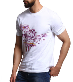Hand-painted Haveli T-shirt - RANGRAGE  - 3