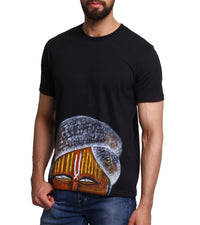 Hand-painted Indian Pandit Black T-shirt - RANGRAGE  - 1