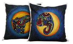 Hand-painted Colorful Cushion Covers (Set of 2) - RANGRAGE