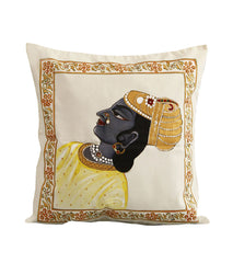 Hand-painted Maharaja Cushion Cover - RANGRAGE
