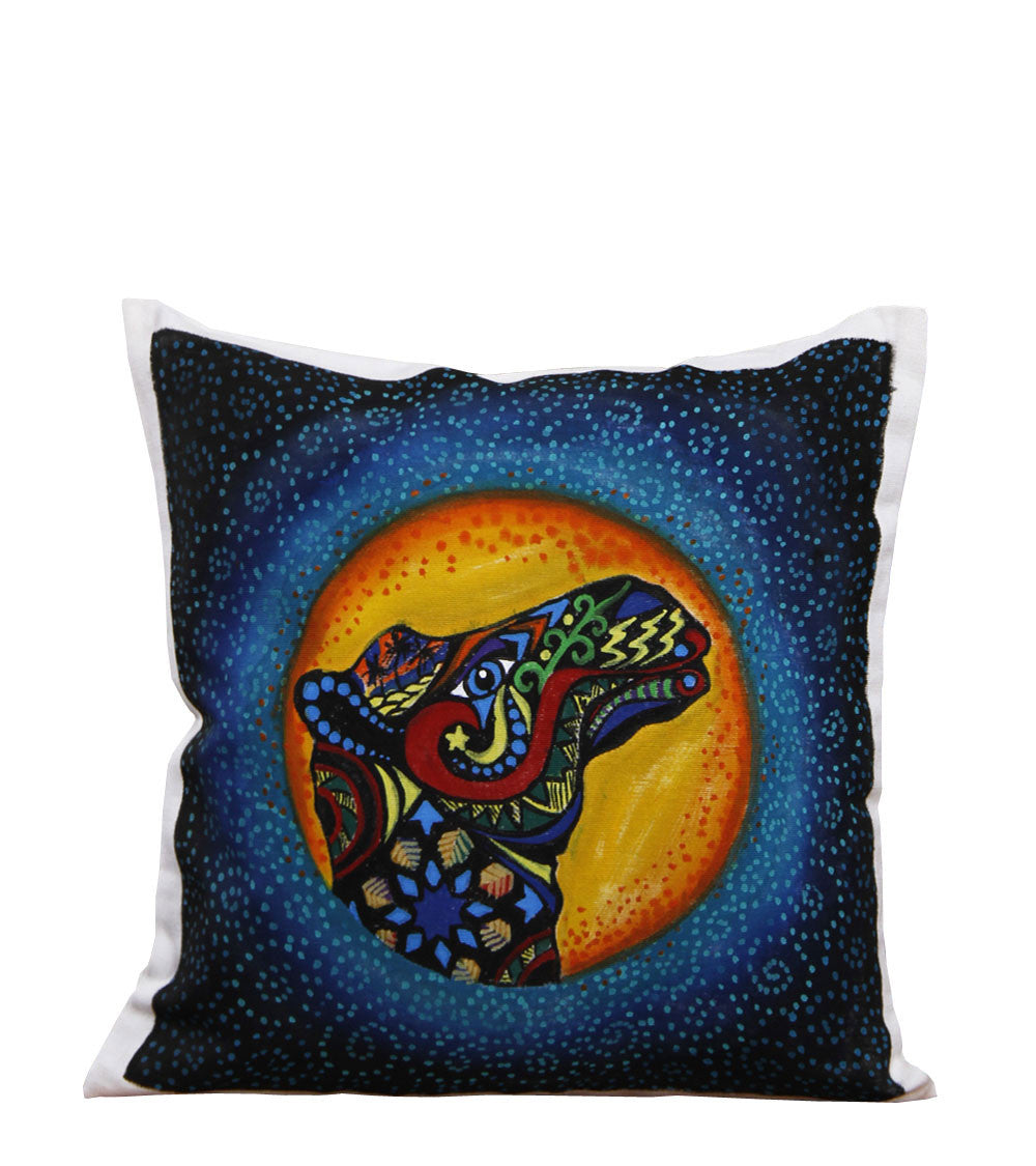 Hand-painted Colorful Camel Cushion Cover - RANGRAGE
