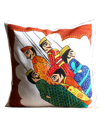 Hand-painted Puppets Cushion Cover - RANGRAGE
