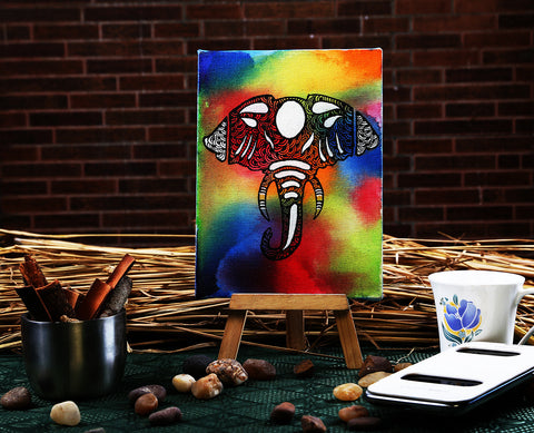 Hand-painted Colorful Flamboyance Mini Painting
