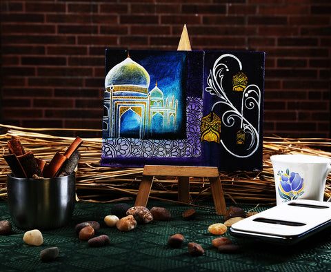 Hand-painted Taj Treasure Mini Painting