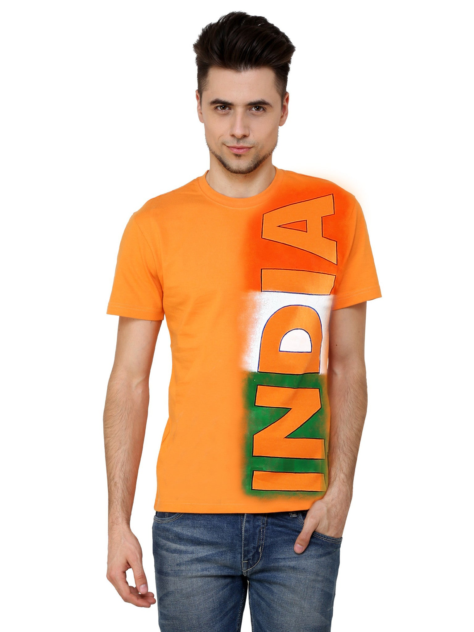 Hand-painted Indian Effect T-shirt - Rang Rage  - 1