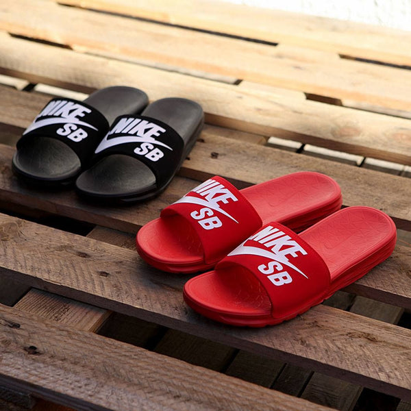 17e95c7ba217 Now you don t have to ditch slides because of comfort as the Nike SB  Benassi Solarsoft slides is all about comfort. Composed of one-piece upper