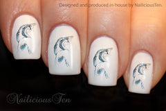 Beautiful Swans Nail Water Transfer Wraps 21pcs